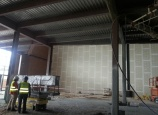 Rozbudowa Centrum Handlowego Magnolia we Wrocławiu – natrysk produktu MONOKOTE MK-6 HY